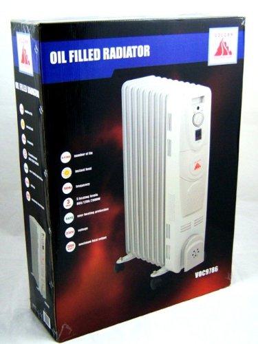 9 Fin 2000W Oil Filled Radiators Heaters 2kw