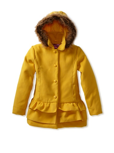 Dollhouse Girls Hoodie Coat - Size (14) Color (Marigold) at Sears.com