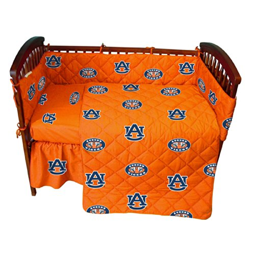 College Covers Auburn Tigers 5 Piece Baby Crib Set