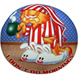 "Garfield "" I Don't Do Mornings"" Cotton Cushion - Multi-Color, 33 Cm X 33 Cm"