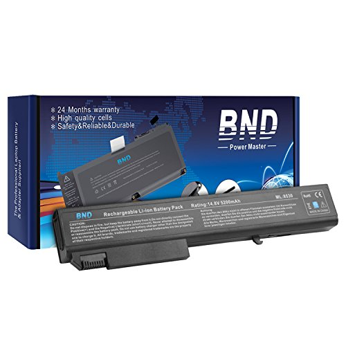 BND® High Performance [with Samsung Cells] Laptop Battery for HP EliteBook 8730w 8730p 8530p 8530w 8540w Mobile Workstation / ProBook 6545b - [fits P/N 458274-421 / 484788-001 / 493976-001 / 501114-001 / HSTNN-LB60 / HSTNN-OB60 / HSTNN-XB60 / KU533AA] - [Same Size & Shape as an OEM Battery] - 24 Months Warranty [8-Cell 5200mAh/76.96Wh]