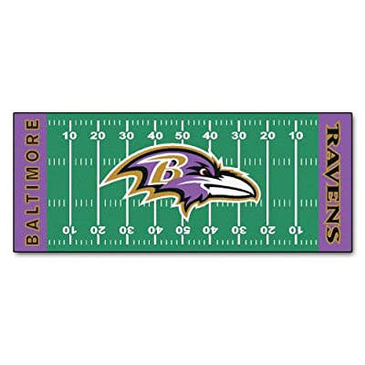 FANMATS NFL Baltimore Ravens Nylon Face Football Field Runner