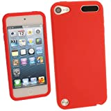 IGadgitz Red Silicone Skin Case Cover for Apple iPod Touch 5th Generation 5G 32GB 64GB + Screen Protector