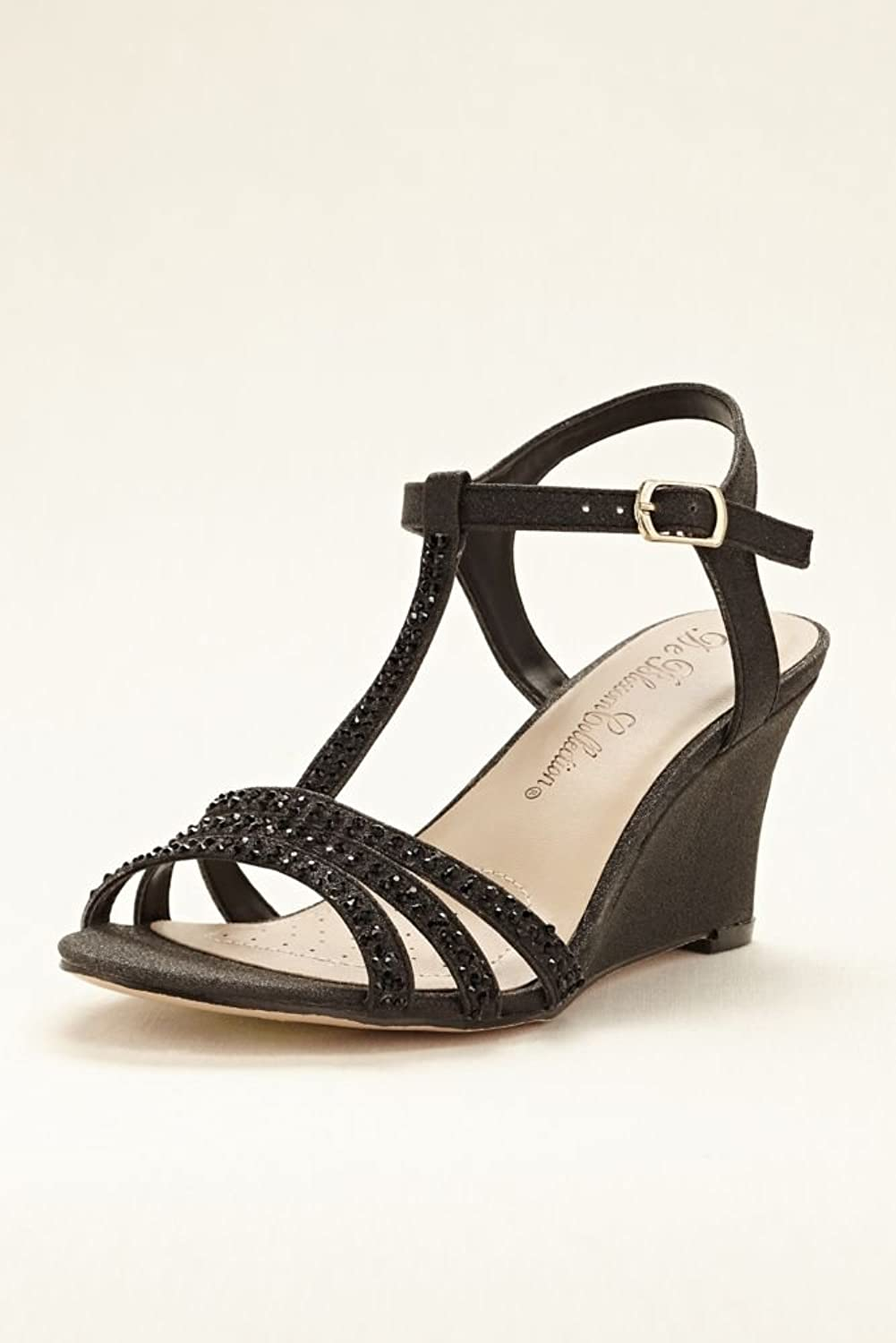 Glitter Wedge Shoes Shoes T-strap Wedge Sandal