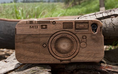 [MADE FROM RAW WOOD] Walnut Case for iPhone 4/4S (M9 Camera) by SigniCASE Discount !!