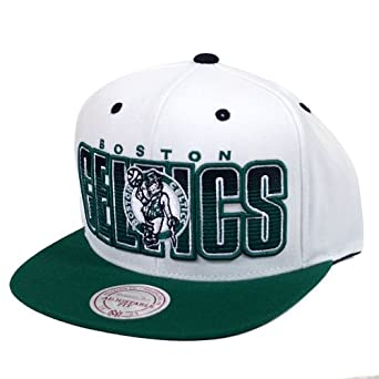 Boston Celtics Mitchell & Ness Home Stand Snapback Hat by Mitchell & Ness