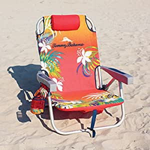 Amazon Com Tommy Bahama Backpack Beach Chair Red