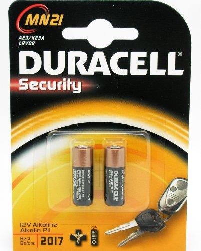Duracell 2665c Lot de 2 piles alcalines Security A23/K23A LRV08 12 V