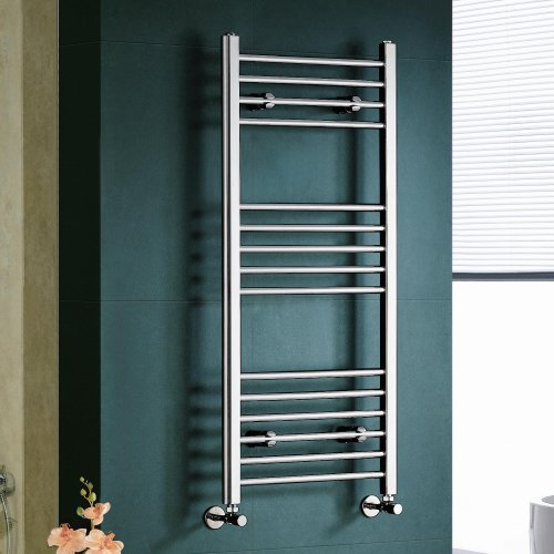 Maine Chrome Straight Towel Rail Radiator - 1100x500mm