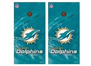 NFL Miami Dolphins Cornhole Shield by Wild Sports
