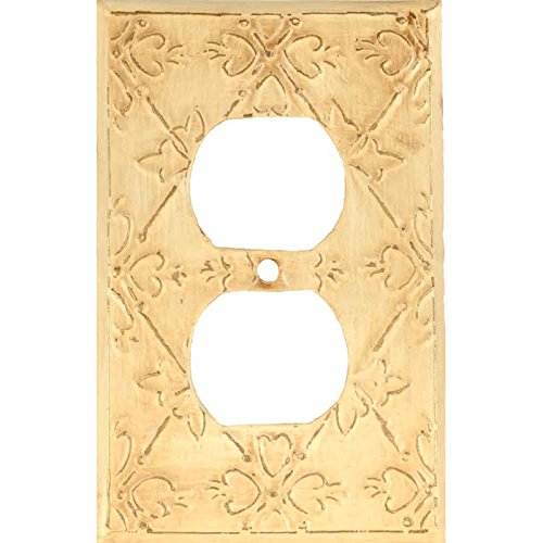 BAROQUE White Switchplates Outlet Covers, Rockers, GFCI Duplex