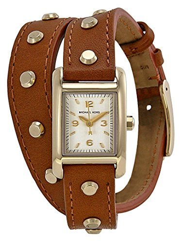 Michael Kors Mini Taylor Champagne Dial Brown Laether Ladies Watch MK2340