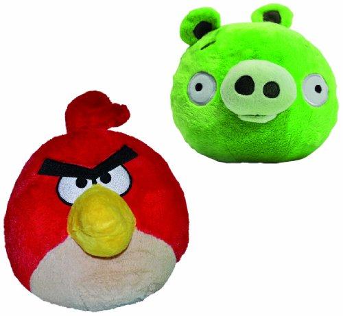 Angry Birds Peluche grande con sonido - 30cm Cerdo o Pájaro Rojo.