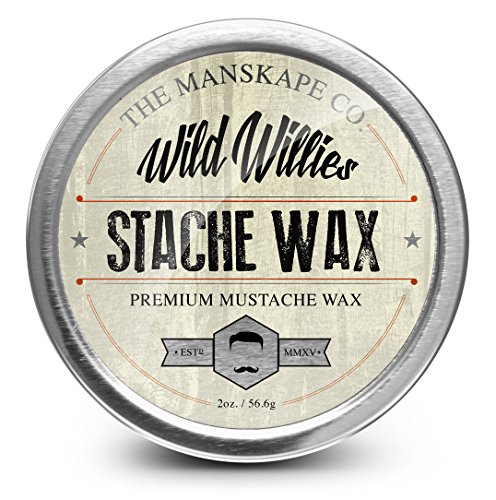 Wild Willie's Mustache Wax - The Only Hard Wax with 7 Natural Organic Ingredients for All Day Hold While Treating Your Mustache at the Same Time. Every Batch Made By Hand Weekly in the USA. From Our Family To Yours.