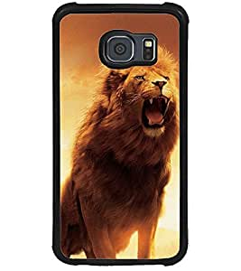 ColourCraft Roaring Lion Design Back Case Cover for SAMSUNG GALAXY S6