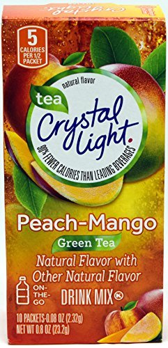 Crystal Light On The Go Peach Mango Green Tea Drink Mix, 10-Packet Box (Pack of 6) (Mango 99 compare prices)