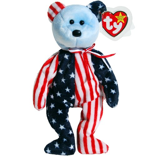Ty Beanie Babies - Spangle the Stars & Stripes