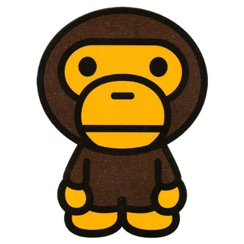 Amazon.com : 4.25 inch X 5.75 inch Bape Monkey Heat Iron On Transfer