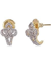 Sia Art Jewellery Clip-On Earrings For Women (Golden) (AZ4015)