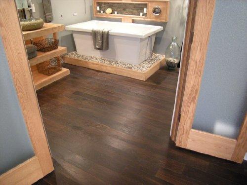 """White Oak Carbonized Oiled Brushed Ideal Loc 5"""" Plank Prefinished Engineered Floating Hardwood Wood Floor Flooring"""