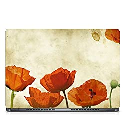 Inktree Vinyl Flowers Matte Finish Adhesive Laptop Skin (15 inch x 10 inch, Mulicolor)