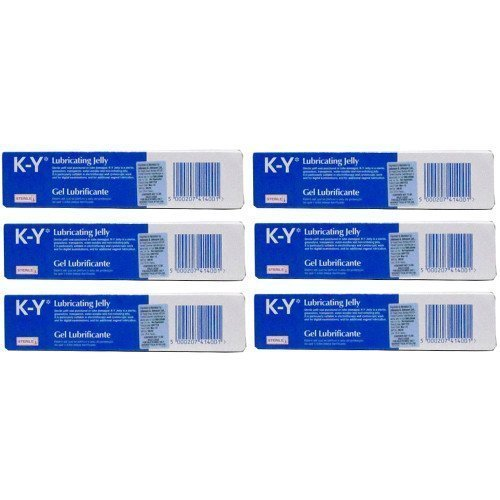 K-Y Six Packs Of Gel Lubricating Sterile Jelly 82G (K Y Lubricating Jelly compare prices)