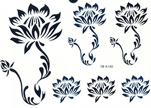"""Ggsell Ggsell Tattoo Size 6.30 X 6.30"""" Latest Hot Selling And Fashionable Tempoary Tattoos Stickers 6 Lotus In One Paper Tattoo"""""""