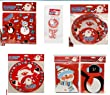 Christmas Party Tableware Set - Cute Design - Cups Plates Bowls Napkins Tablecloth