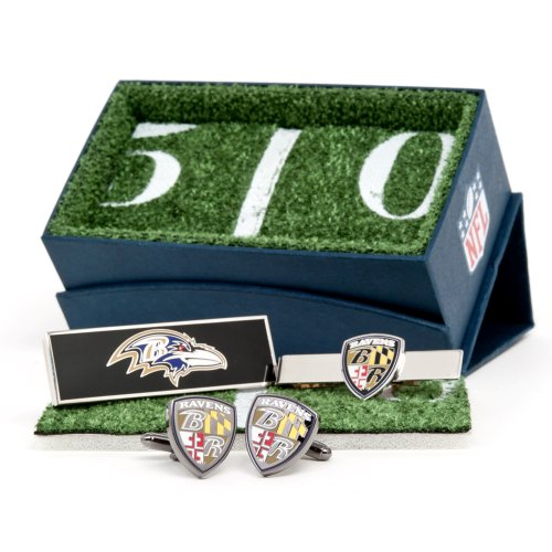 Nfl Baltimore Ravens Plated 3-Piece Gift Set (Team Colors)