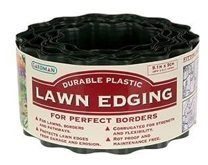 Gardman Rigid Lawn Edging Green 9m x 90mm
