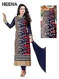 RND Creation Blue Georgette Semi-Stitched Salwar Suit