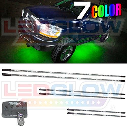 6Pc 7 Color Slimline Truck Underbody Underglow Kit