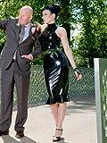 Peter Domenie Latexkleid Gummi Größe XS S M L XL XXL Schwarz, Farbe:Schwarz;Größe:L