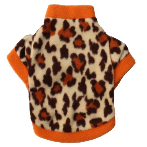 Pet Clothes Leopard Pattern Dog T Shirt Soft And Cool Dog Clothing Small Dogs Clothes Cute Dog Costume (Xs)