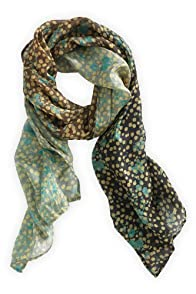 Asian Eye Fair Trade Silk Bolla Ombre Scarf (Black)