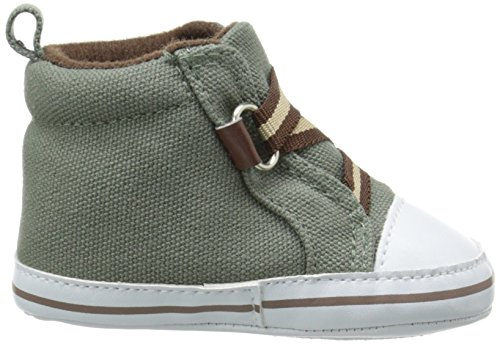Luvable Friends Boy Zig Zag Hi Top Infant Green 12 18