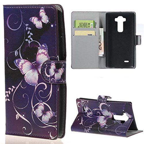 LG G Flex 2 Case,Premium PU Leather Wallet Flip Protective Skin Case with Magnetic Closure for LG G Flex 2 (Built-in Credit Card/ID Card Slot)-Butterfly 03 (Lg G Flex Phone Case For Girls compare prices)
