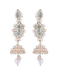 Bel-en-teno White Alloy Earring Set For Women - B00PY9YBOI