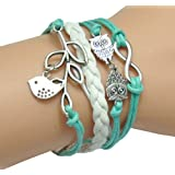 HUMASOL Glamour Charms Leather Suede Friendship Bracelet Gift