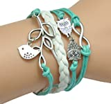 GURAIO Fashion Lady Strands Suede Rope Bracelet Gift