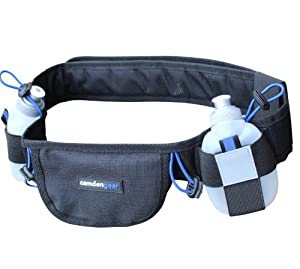 Hydration Running Belt By Camden Gear - Runners Belt and Waist Pack with BPA Free Water Bottle. Reflective Pocket - Comes with a Phone Pouch, Fits Most Cell Phone, iPhone 5 and Android, Samsung Galaxy S3 / S4 - Ideal for Men and Women - The Light Design Is Perfect for Runners and Different Types of Sports Including Running a Marathon, Jogging, Hiking, Walking