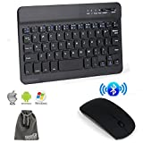 EEEKit Wireless Bluetooth Keyboard and Mouse 2in1 Office Combo for Samsung Galaxy Tab E, Tab 4/3/2,Tab S 7/8-inch,Nexus 7,Tagital 7,LG G Pad 7,Huawei MediaPad T1 7,Verizon Ellipsis 7,ASUS MeMO Pad 7 (Color: 2-in-1 Combo for 7/8 inch Tab)