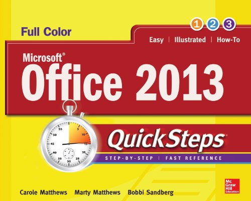 Microsoft® Office 2013 Quicksteps