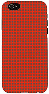 Snoogg chequered pattern design 1334 Case Cover For Apple Iphone 6 iphone 6
