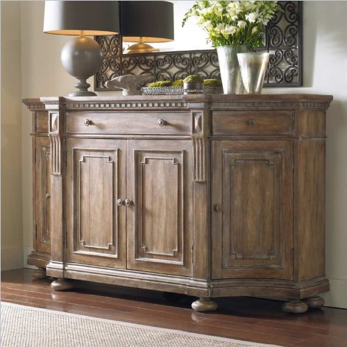 Hooker Furniture Sorella Shaped Credenza in Warm
