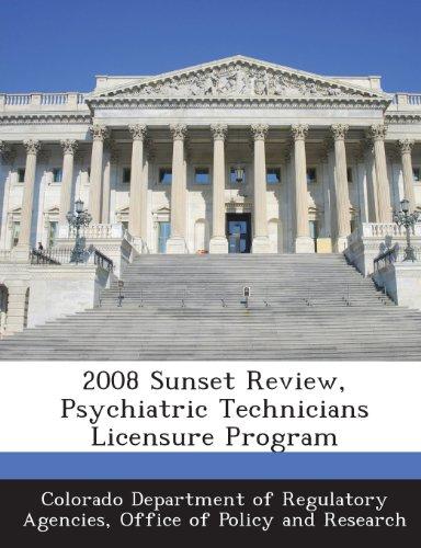 2008 Sunset Review, Psychiatric Technicians Licensure Program
