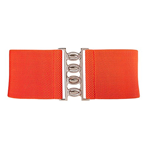 Retro Vintage Orange Women Elastic Wide Belt Size XL CL8961-8 (Orange Belt compare prices)