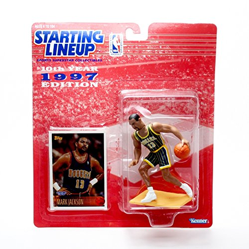 MARK JACKSON / INDIANA PACERS 1997 NBA Kenner Starting Lineup Action Figure & Exclusive TOPPS NBA Collector Trading Card