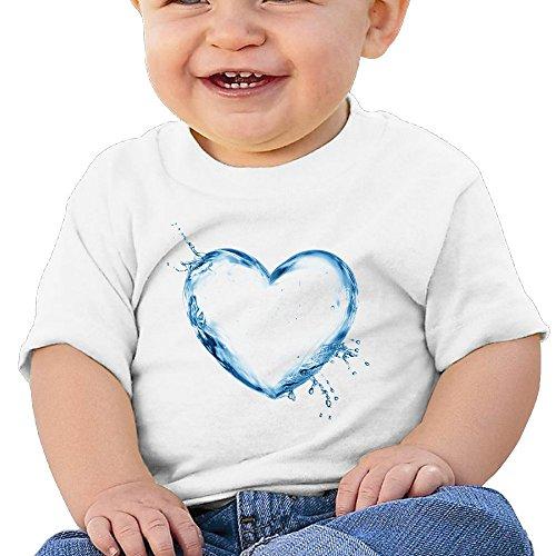 Bro-Custom Liquid State Love Graphic Children Custom Tee White Size 12 Months