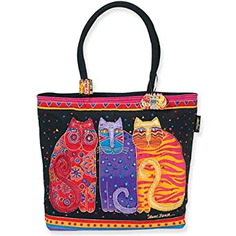 Laurel Burch Cats Feline Friends Shoulder Tote Bag